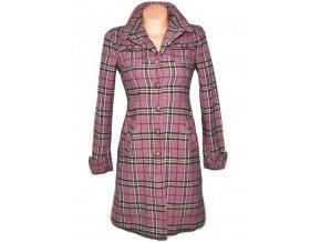 Vlněný dámský růžový kabát H&M S