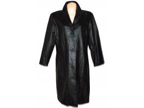 KOŽENÝ dámský černý dlouhý měkký kabát Ellen Wesley 44