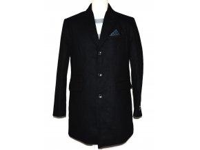 Vlněný pánský černý kabát NEXT M