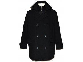 Vlněný pánský šedočerný kabát St.George L