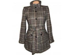 Dámský šedo-hnědý kabát s páskem Dorothy Perkins L