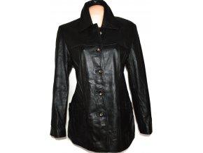 KOŽENÝ dámský měkký černý kabát LAKELAND UK 14