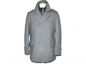 Vlněný pánský šedý zateplený kabát F&F L