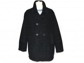 Vlněný pánský šedočerný kabát CLOCKHOUSE L
