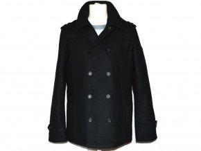 Vlněný pánský černý kabát Clockhouse M/L 4