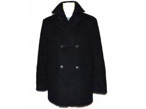 Vlněný (80%) pánský černý kabát MEXX M 3