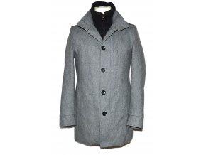 Vlněný pánský šedý kabát Springfield S 4