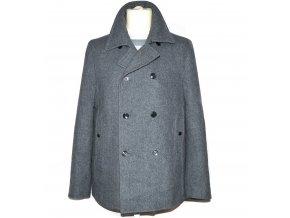 Vlněný pánský šedý kabát S