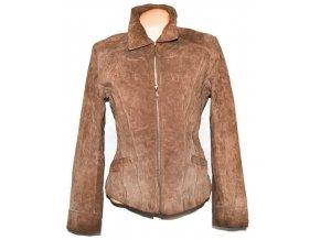 KOŽENÁ dámská hnědá bunda na zip WS Leather L