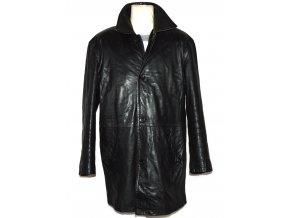KOŽENÝ pánský černý měkký kabát Lakeland L
