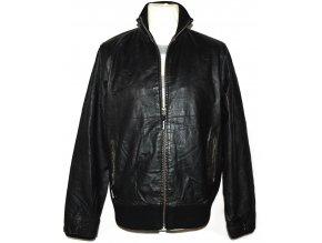 KOŽENÁ pánská černá bunda na zip BENCH. 2