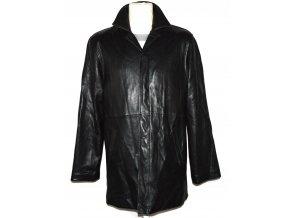 KOŽENÝ pánský černý měkký kabát JONATHAN ADAMS M