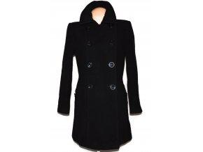 Vlněný (80%) dámský černý kabát BHS 42