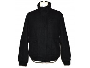 Vlněná pánská černá bunda na zip Easy L
