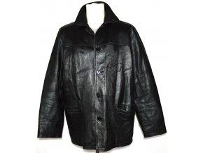 KOŽENÁ pánská měkká černá bunda AVIATRIX  L