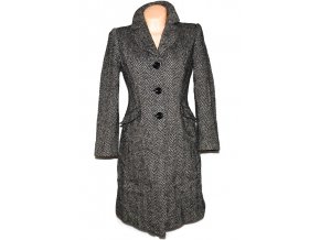Vlněný dámský melírovaný kabát Principles M