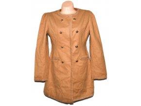 Dámský hnědý kabát L