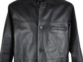 KOŽENÁ pánská černá zateplená bunda CERO M/L