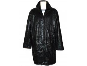 KOŽENÝ pánský černý měkký kabát Matinee L