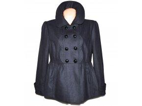 Vlněný dámský šedý kabát XL