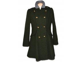 Vlněný dámský khaki zelený kabát GEORGE 16/44