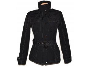 Bavlněný dámský černý kabátek s páskem Evie 10/38