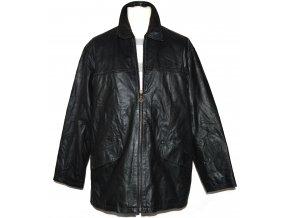 KOŽENÁ pánská černá bunda na zip UNION RIVER L