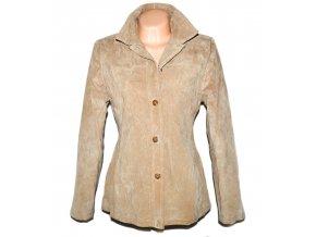 KOŽENÁ dámská béžová bunda DPl L