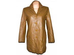 KOŽENÝ dámský hnědý měkký kabát LLD L