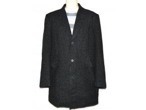 Vlněný pánský šedý kabát BHS XL