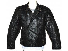 KOŽENÁ pánská černá motorkářská bunda Cowhide XS