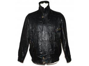 KOŽENÁ pánská černá měkká bunda na zip M