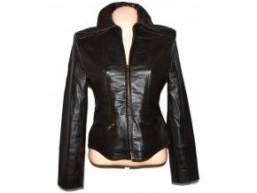 KOŽENÁ dámská hnědá měkká bunda na zip Avenue L