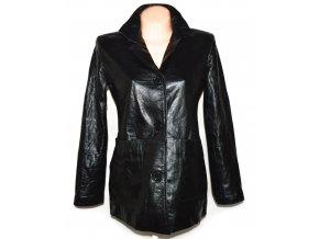 KOŽENÉ dámské černé měkké sako MDK L