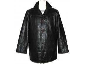 KOŽENÁ pánská černá měkká bunda Banhof