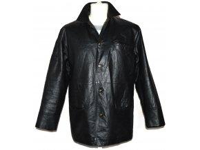 KOŽENÁ pánská černá měkká zateplená bunda FOR MEN M