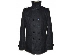 Vlněný pánský šedý kabát Sand Stone M