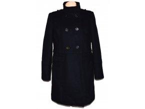 Vlněný dámský tmavě modrý kabát Marks&Spencer L