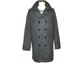 Vlněný pánský šedý kabát Ben Sherman M