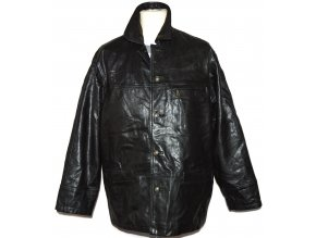 KOŽENÁ pánská černá měkká zateplená bunda X1 Club Eleven L