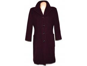 Vlněný dámský fialový dlouhý kabát (vlna, kašmír) 44