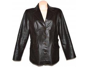 KOŽENÉ dámské hnědé měkké sako XL