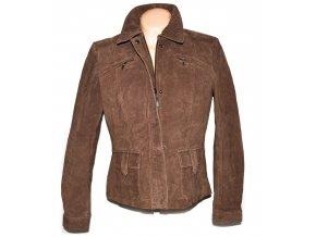 KOŽENÁ dámská hnědé broušená bunda Wallace Sacks XL