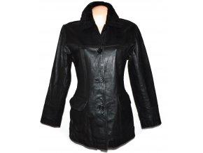 KOŽENÝ dámský černý kabát Outer Edge S