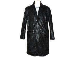 KOŽENÝ pánský černý měkký zateplený kabát KIT L