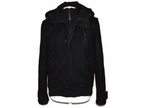 Vlněná pánská černá bunda s kapucí BURTON M