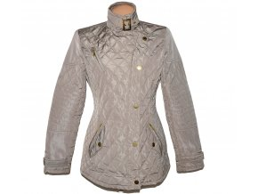 Dámský béžový šusťákový prošívaný kabát na zip NEXT 12