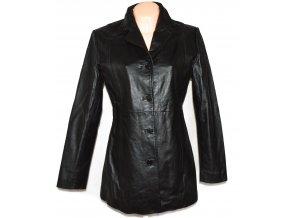 KOŽENÝ dámský černý kabát Stature L