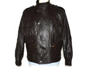 KOŽENÁ pánská hnědá měkká bunda na zip M 2