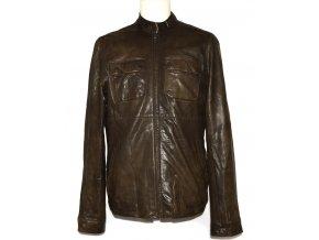 KOŽENÁ pánská hnědá měkká bunda na zip TED BAKER M